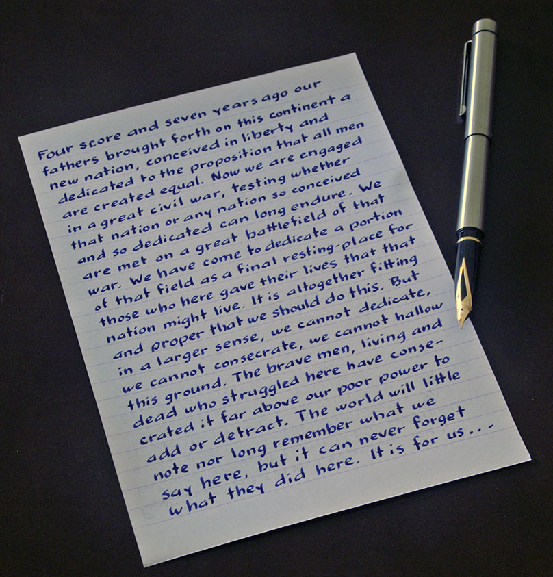how to write in neat handwriting with pen