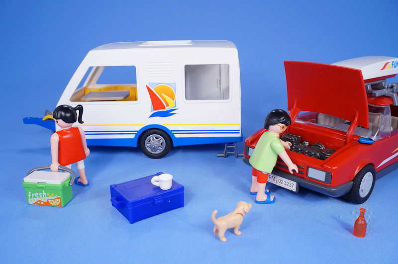 Playmobil Caravan And Car Camping Holiday With Figures