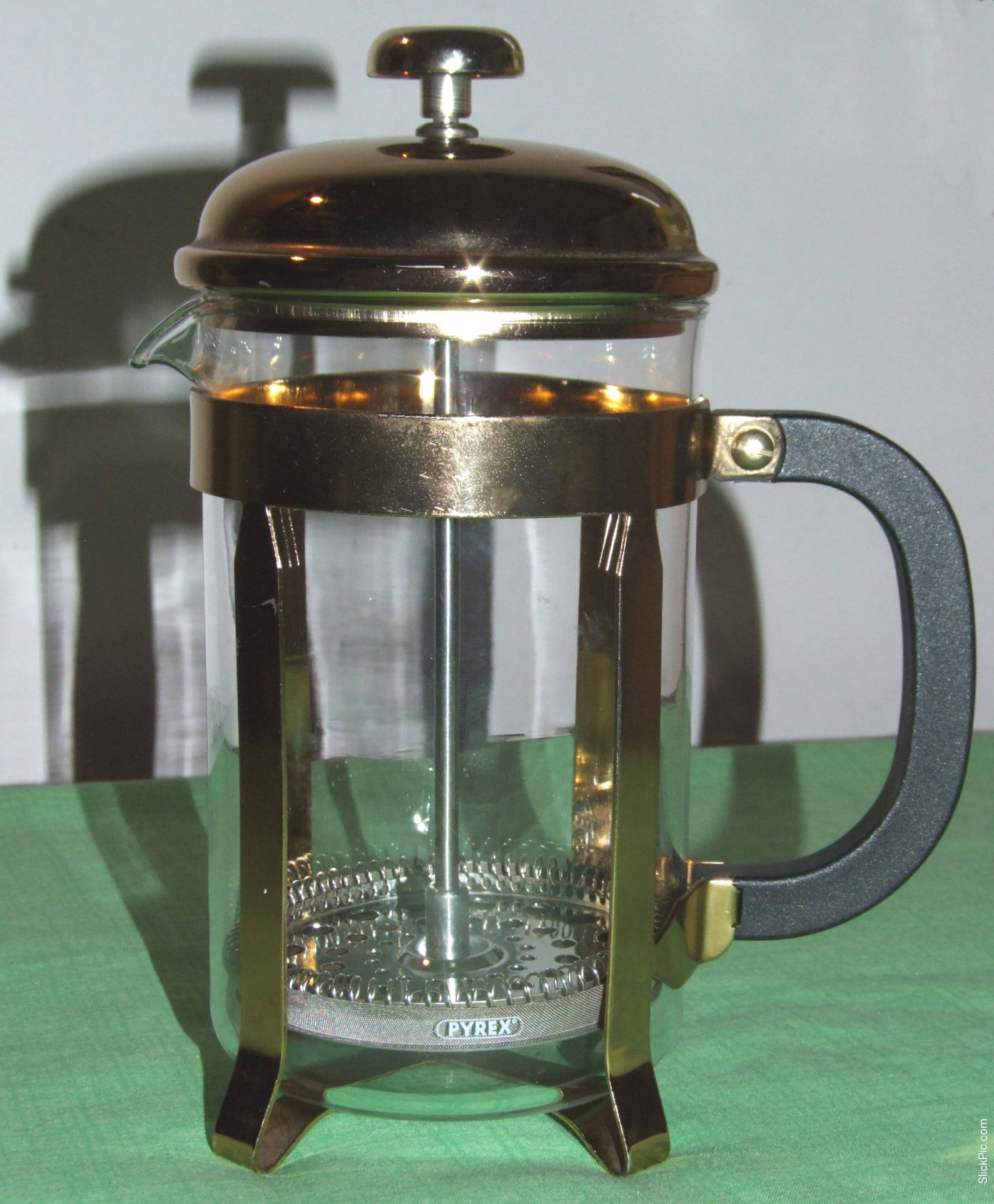 Gold French Press Coffee Maker : Quality Pyrex Gold Coloured Cafetiere / French Press / Coffee Maker / Filter eBay
