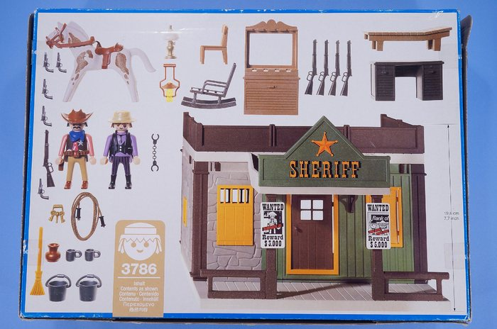Playmobil Boxed Western Cowboy Sheriffs Office With Jail