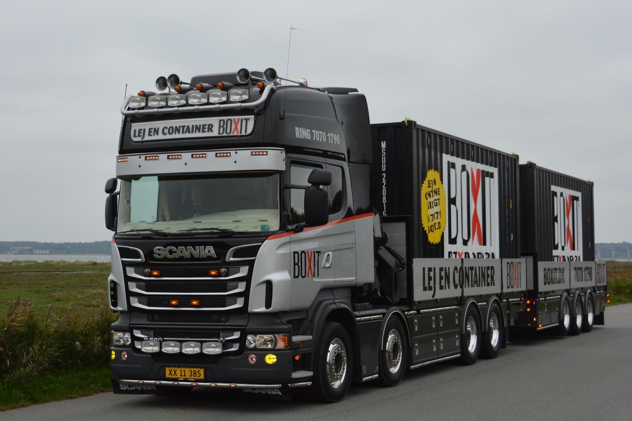 Jesperhus truck show 2014 - trucks leaving, pt. 8