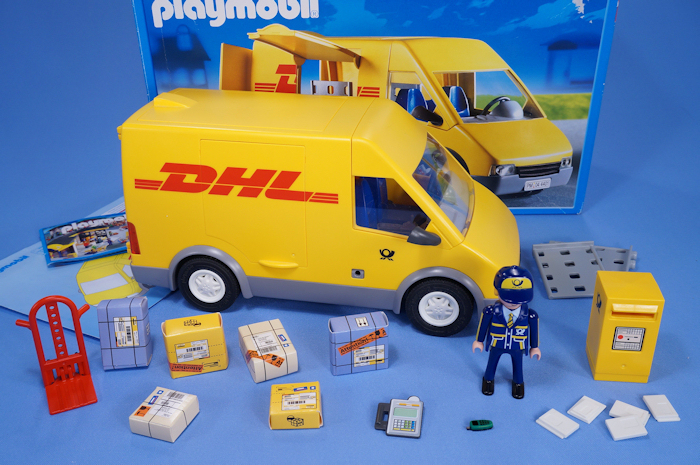 Playmobil dhl delivery post office van with postman boxed for Playmobil post