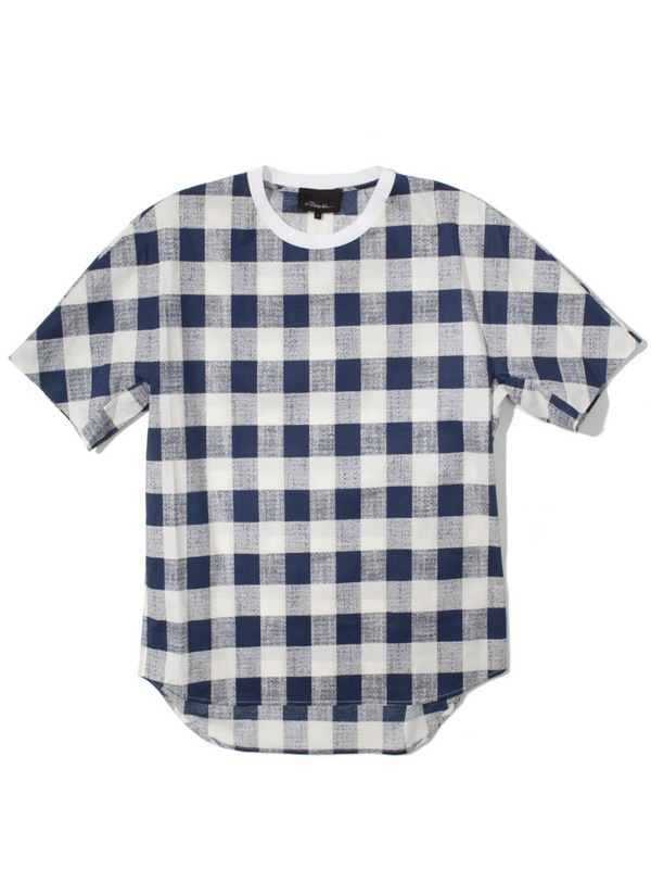 142-3.1-Phillip-Lim-Buffalo-Check-Dolman-Sleeve-T-Shirt