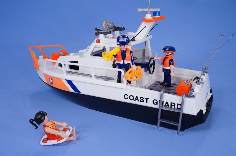 Playmobil Coast Guard Boat Police Patrol Rescue Ship With