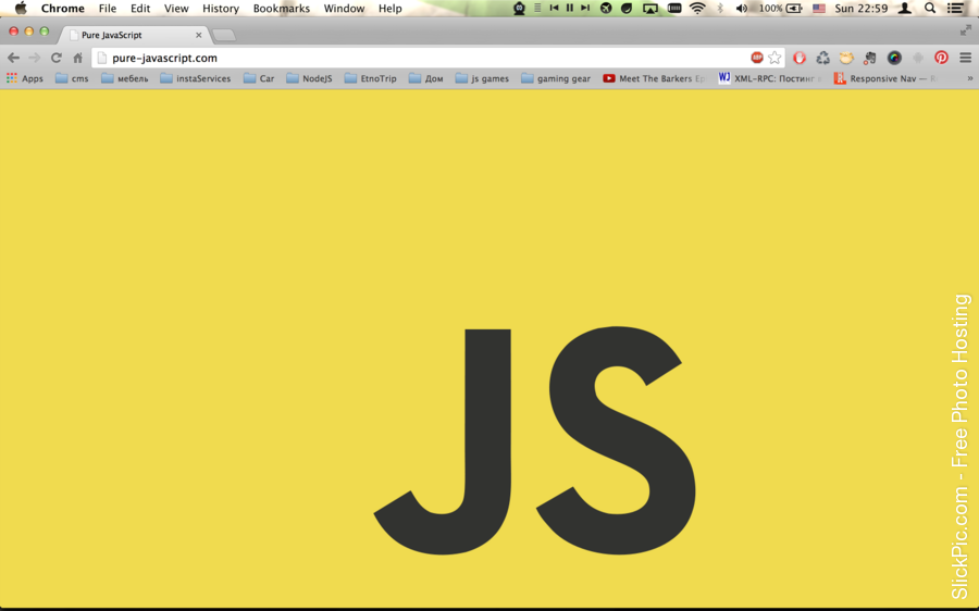 Pure Javascript