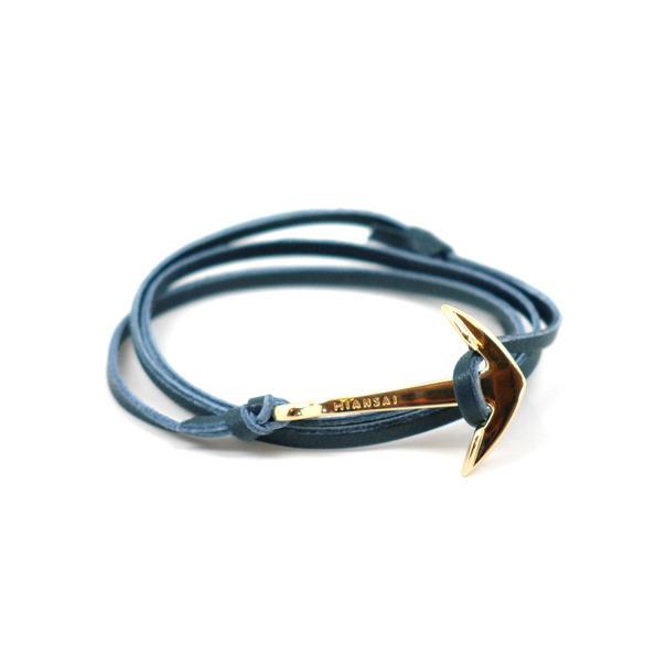 402-Miansai Gold Leather Anchor Bracelet-8