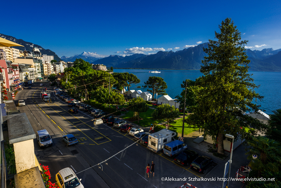 MONTREUX, SWITZERLAND - 30 June 2013: Three hours in Montreux by Aleksandr elvistudio Stzhalkovski