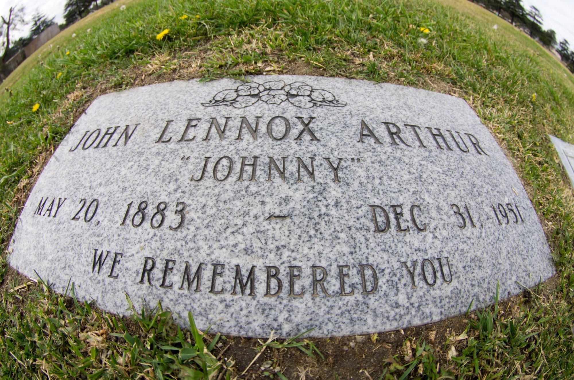 Black celebrity gravesites johnny