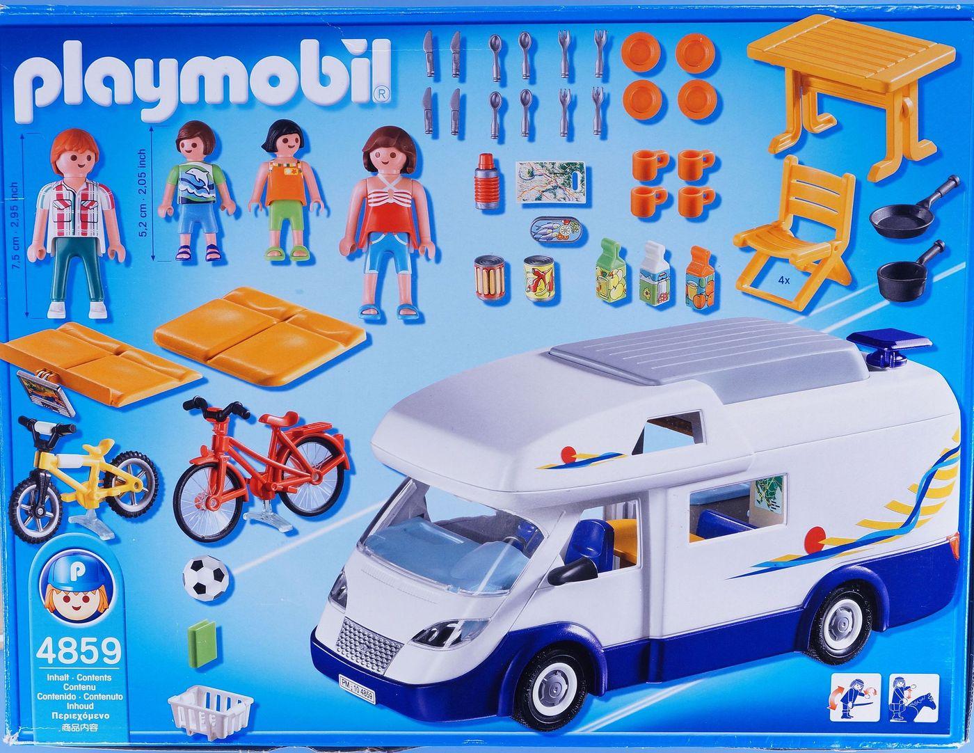 playmobil camper van caravan camping figures accessories boxed holiday 4859 ebay. Black Bedroom Furniture Sets. Home Design Ideas