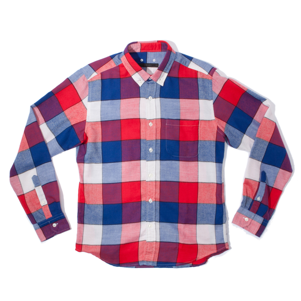 324-Sophnet Thermolite Flannel Block Check B.D. Shirt 2