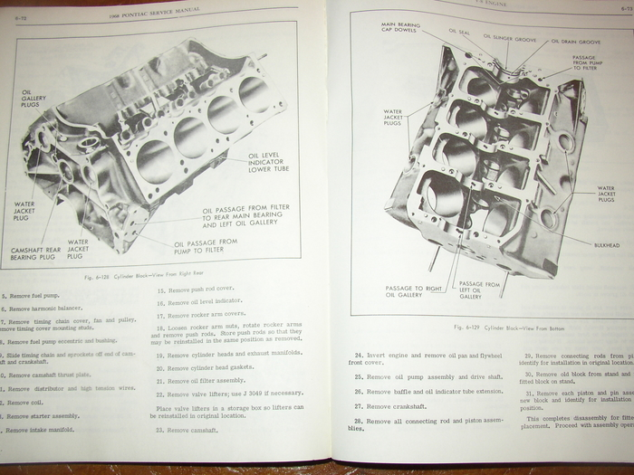 1968 68 Pontiac Service Manual  U0026 Parts Lemans Gto Firebird Ho Tempest Grand Prix