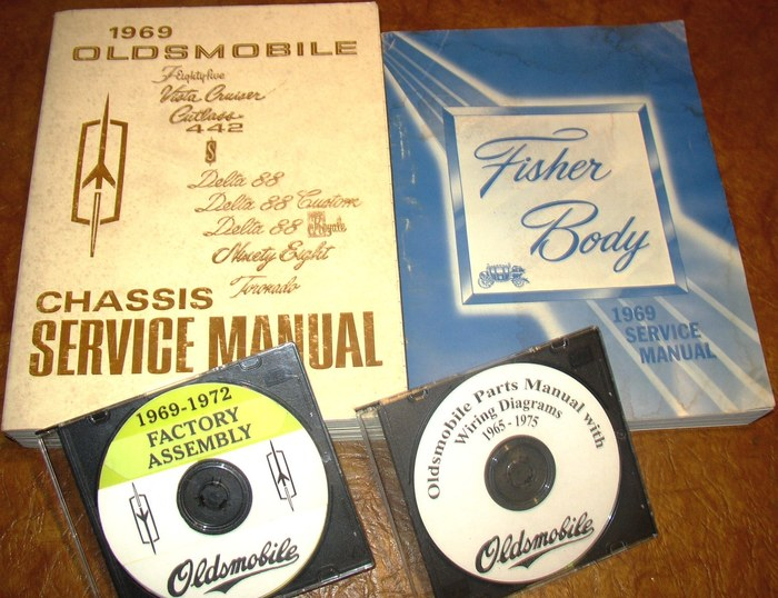 Details about 1969 Olds Oldsmobile Service Manual 4 Vol 442 F-85 Cutl on