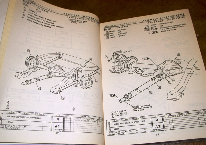 1968 Chevrolet Camaro Assembly Manual All Models 12000