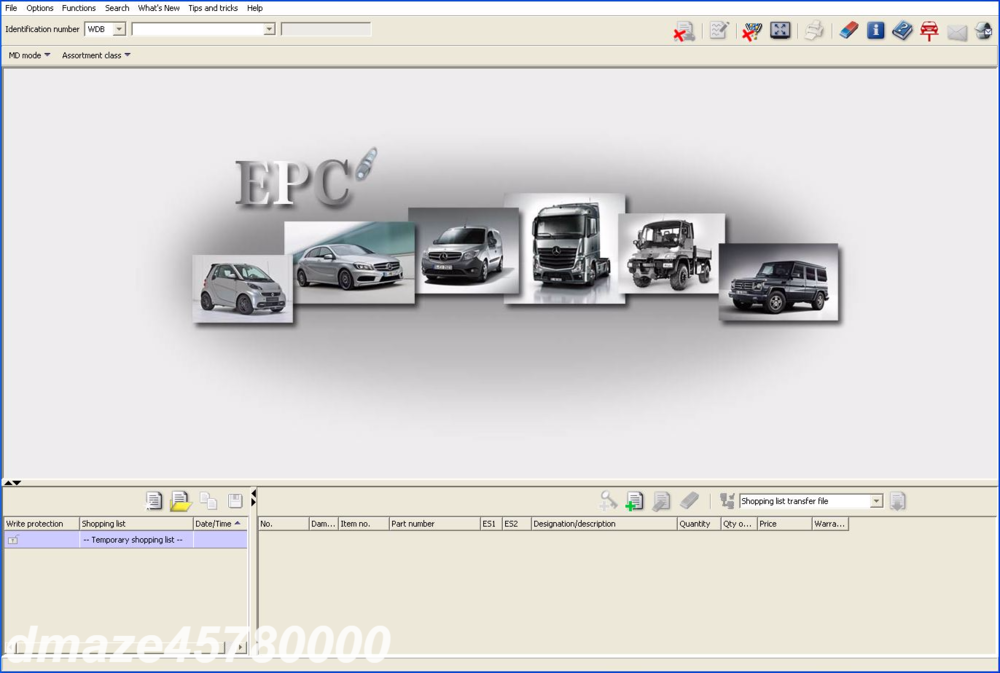 Details about For Mercedes EPC Parts Catalog & Diagrams + WIS & ASRA -  Repair Manual DVD
