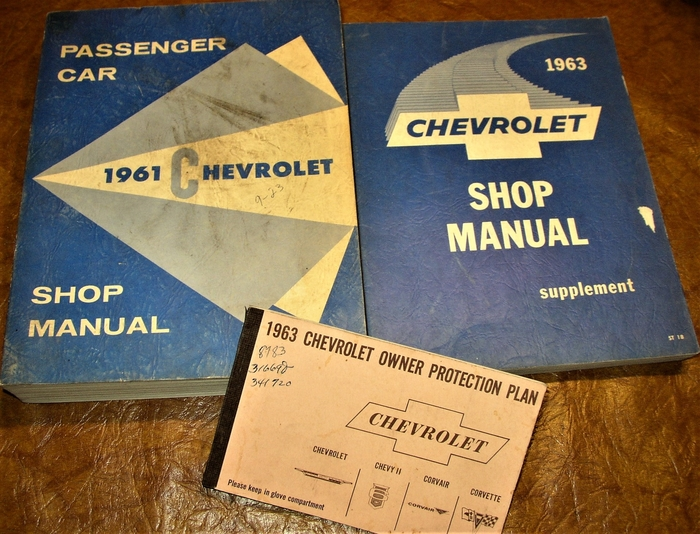 OEM Repair Maintenance Shop Manual Bound Chevy Belaire//Impala Supp To 1961 1963