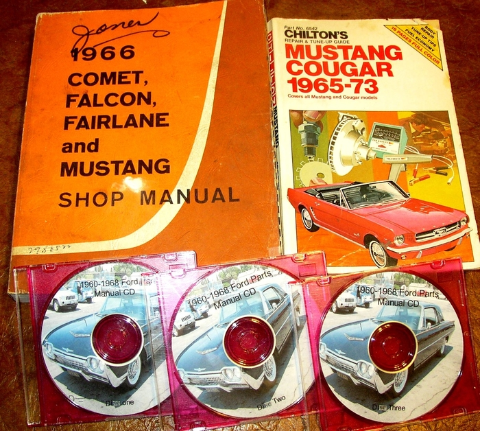 Details about 1966 Ford Mustang GT Convertible Fastback ORIG Shop Manual  Parts Catalog 3pc Set