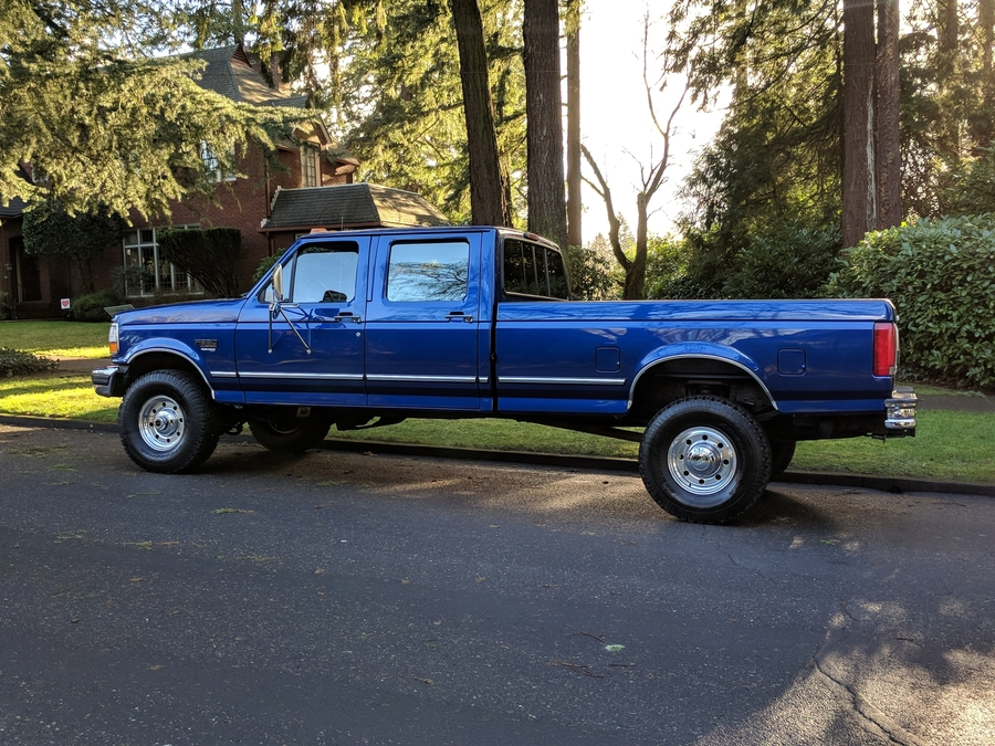 1997 Ford F-350 XLT: 1996 FORD F350 CREW CAB XLT 4X4 7.3 DIESEL 5 SPEED ONLY 71,339 ORIG MILES 1OWNER
