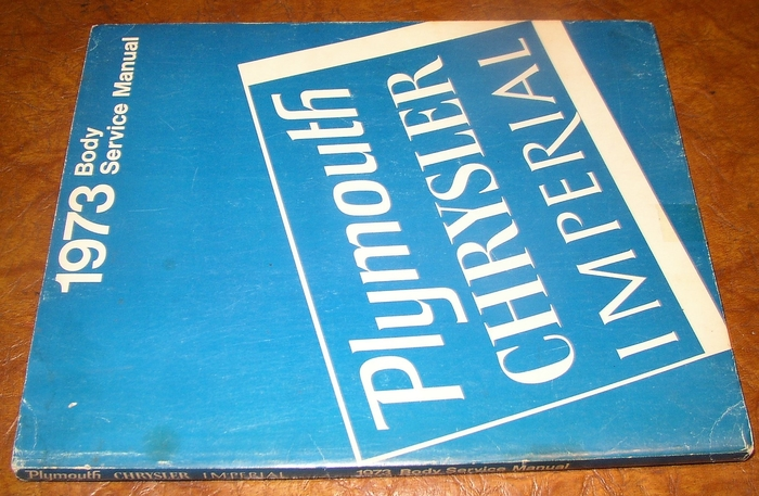 1973 Plymouth Chrysler Imperial Shop Manuals Books Newport