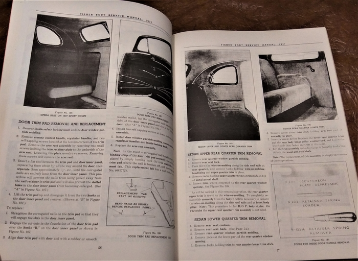 1937 1938 Fisher Body Manual Oldsmobile Cadillac Lasalle