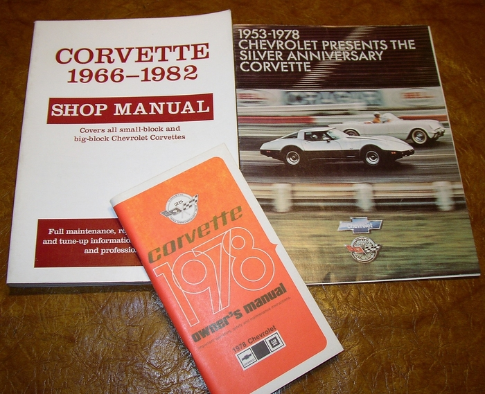 corvette 78 owners manual