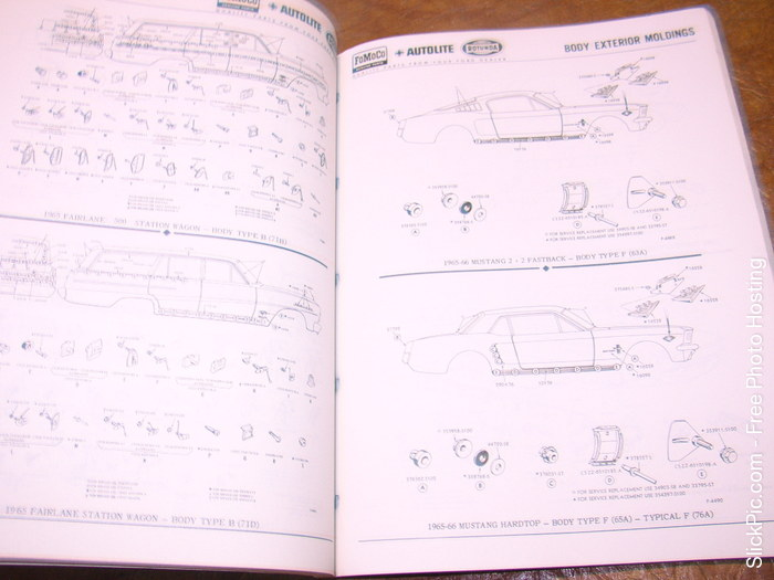 59 1960 1961 1962 1963 1964 1965 Ford Parts Catalog Book