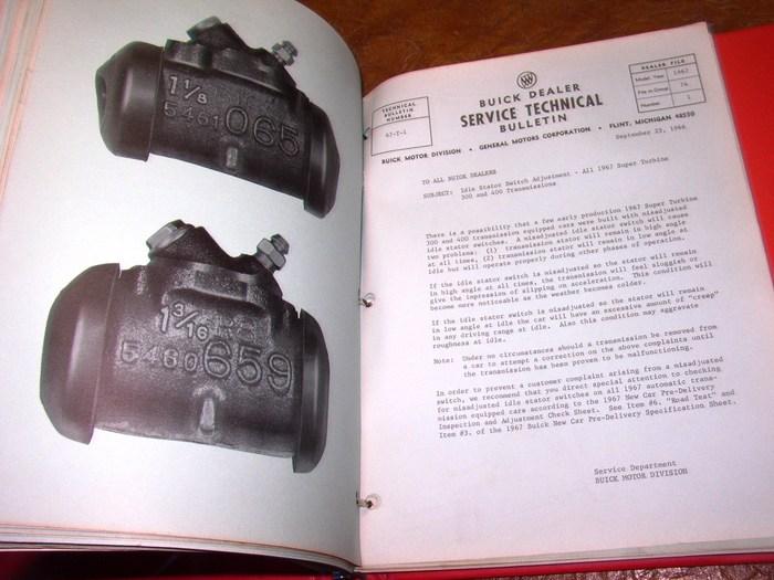 1967 Buick Bulletin Manual Skylark Gs Electra 225 Riviera Lesabre Deluxe Wildcat