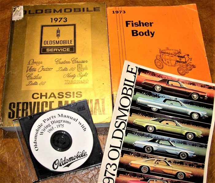 1973 Oldsmobile Service Manuals & Parts 442 W45 Hurst Cutlass
