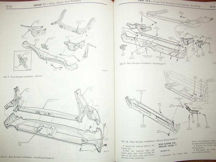 1968 Mercury Cougar Montego Cyclone Mx Shop Manuals