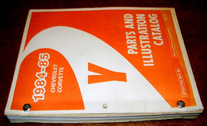 1984 1985 84 85 corvette parts catalog c4 c 4 l98 ebay 85 corvette repair manual 95 Corvette
